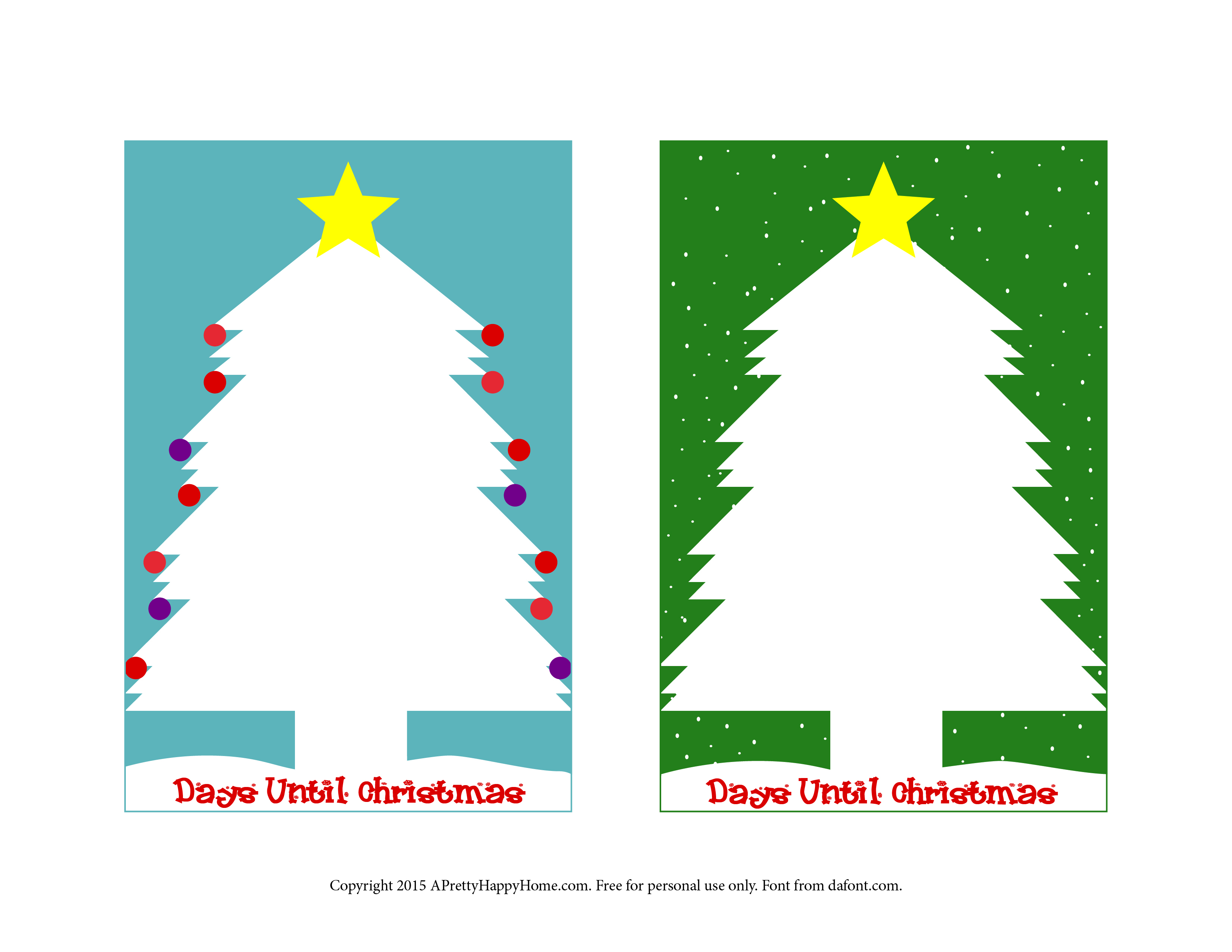 Days Until Christmas Printable.Christmas Countdown Lunch Notes Free Printable A Pretty