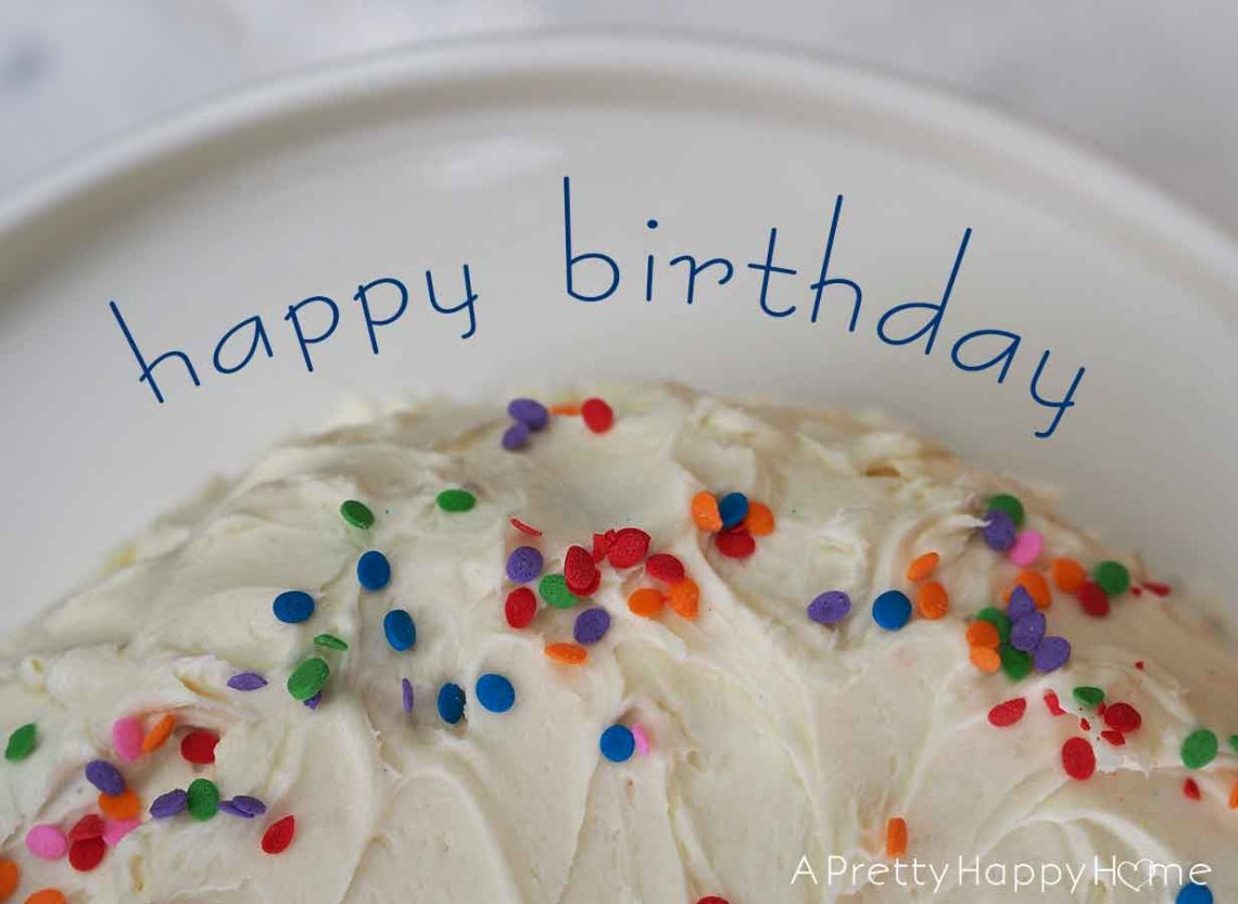 turning nine and twelve happy birthday cake with sprinkles