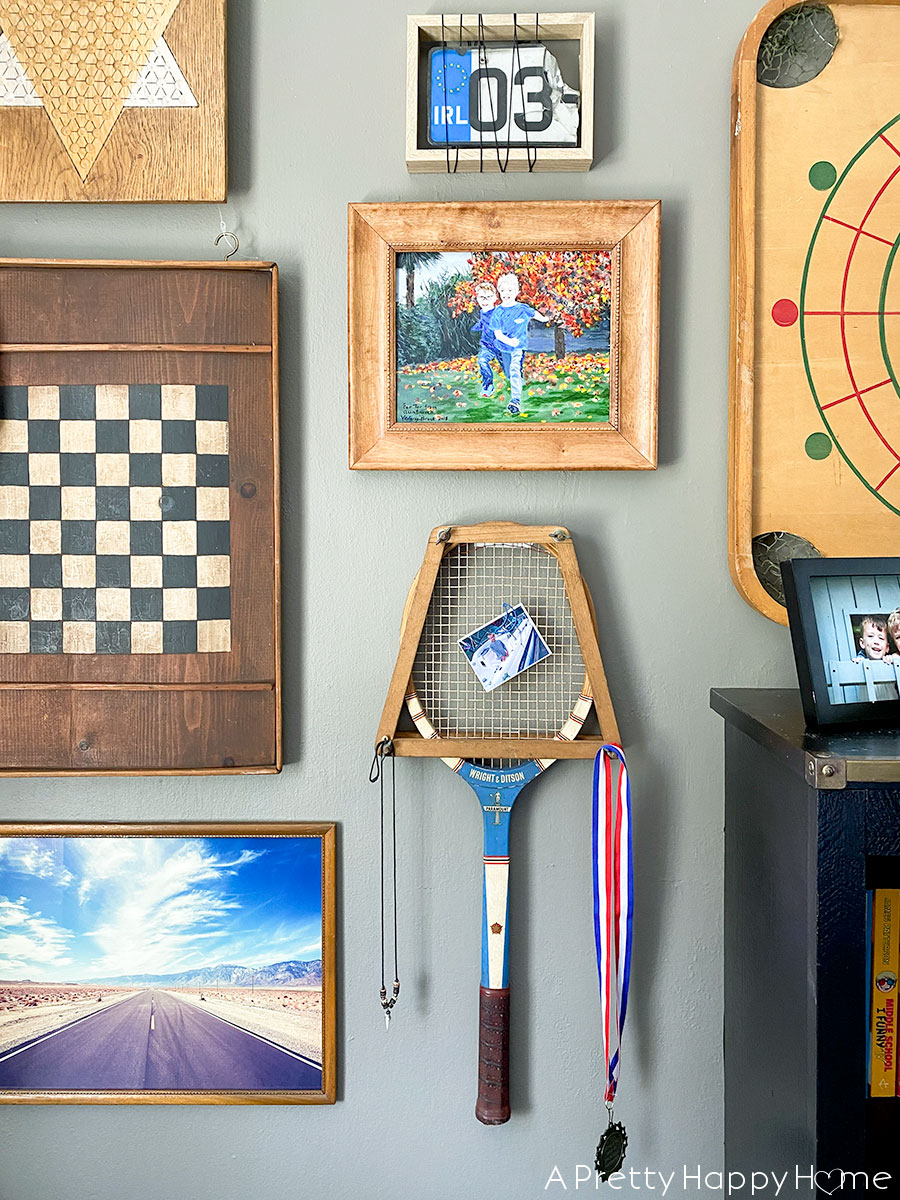 Vintage Game Gallery Wall