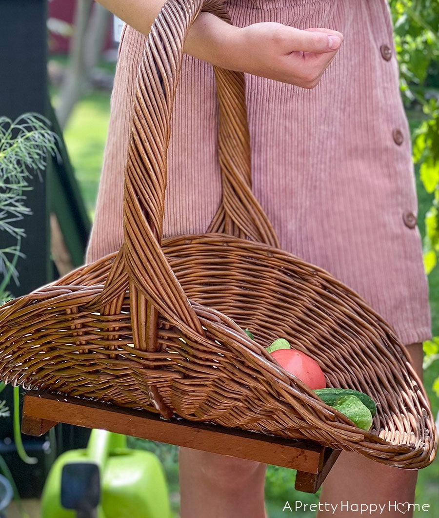 my latest thrift store finds vegetable basket