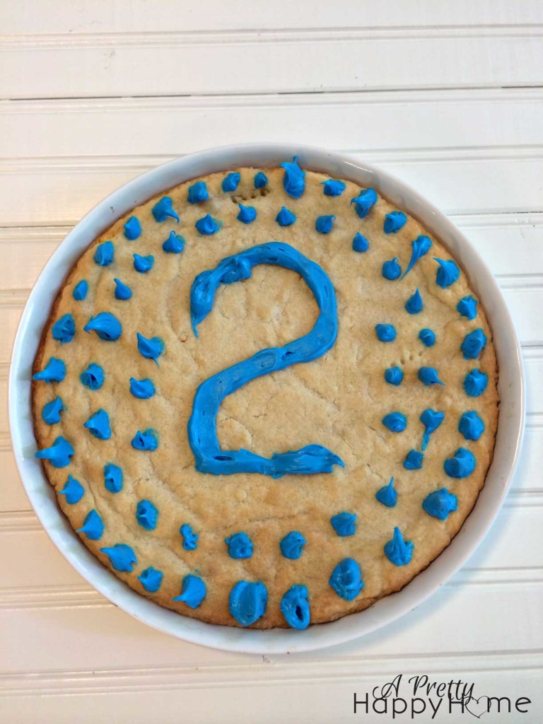 first day of school giant cookie on the happy list