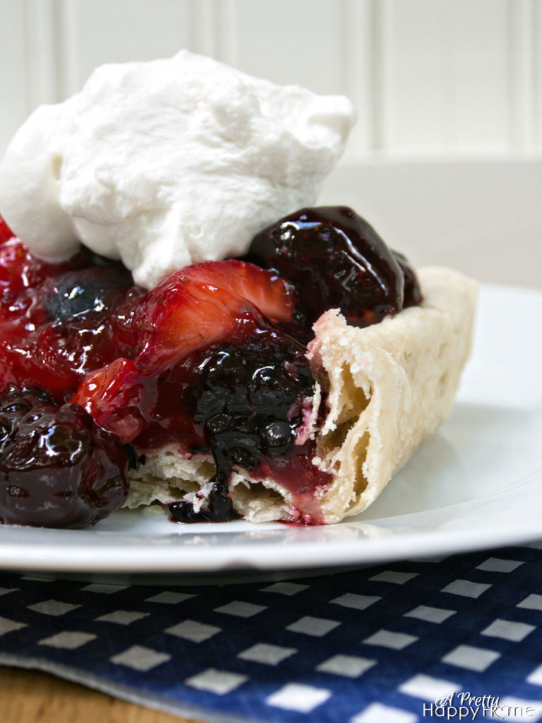 Festive 4th of July Ideas Fresh Triple Berry Pie