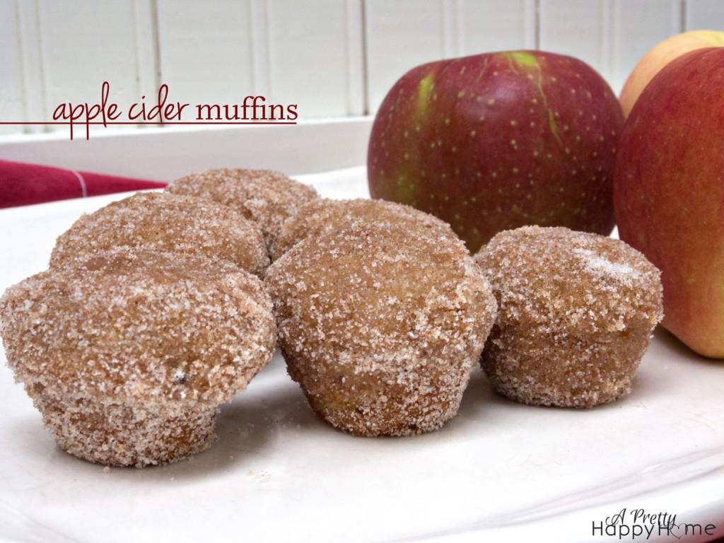 applce cider muffins - title