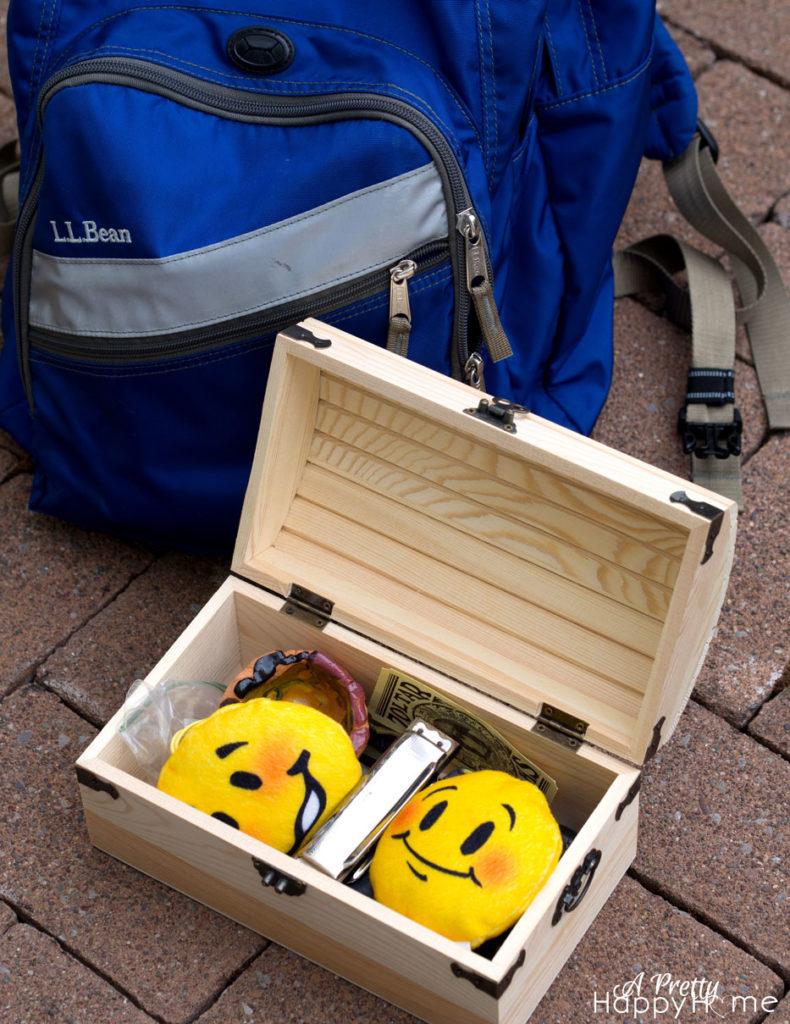 emoji and backpack