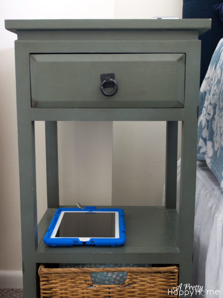 nightstand with cords everywhere nightstand cord hack