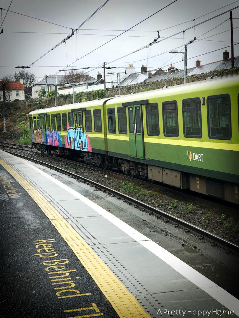 train with graffiti ireland humor break