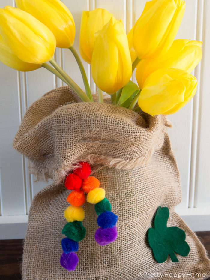 burlap pot of gold
