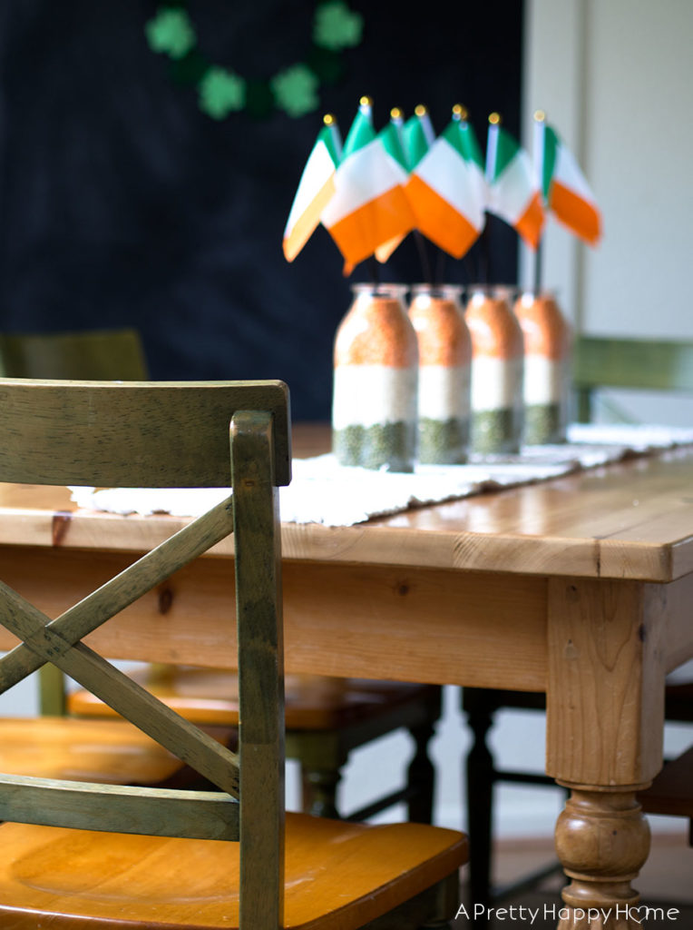 st patrick's day table decor irish flag centerpiece