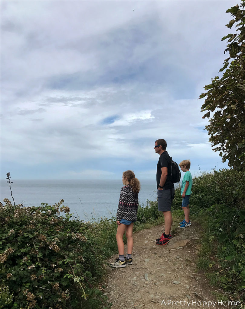 kids hike Howth Ireland on the happy list