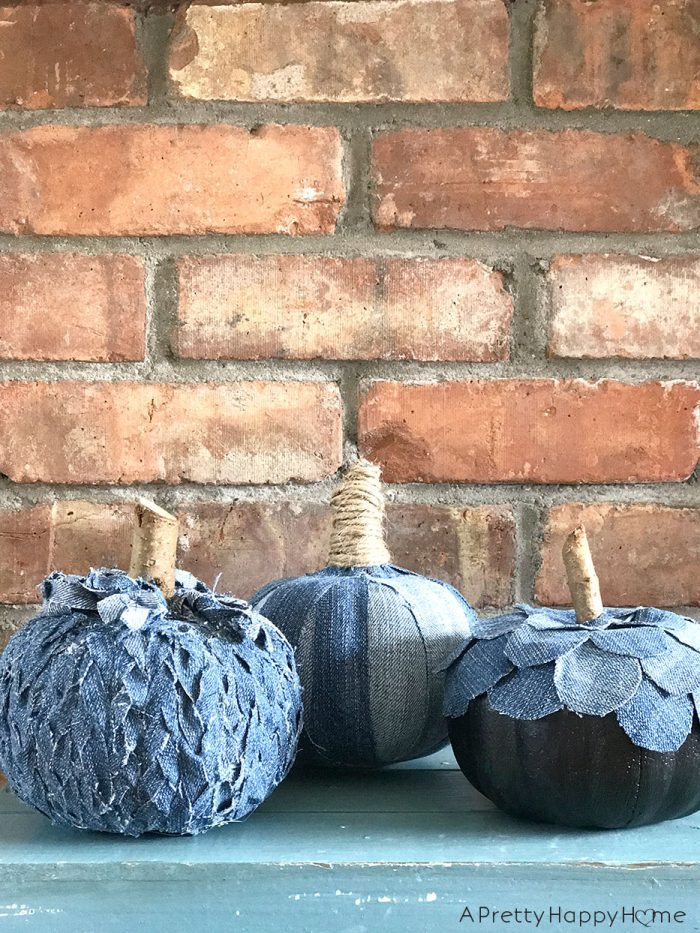 denim pumpkins on the happy list