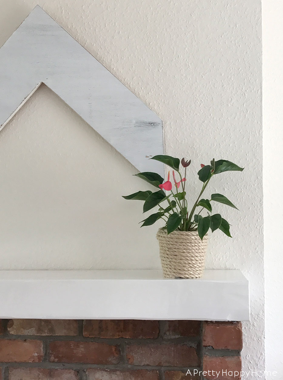 diy rope planter on the happy list