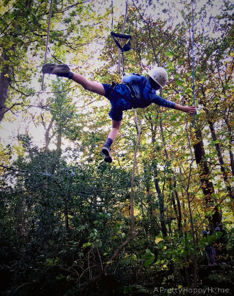 kid swinging through nature kid wisdom everyday superpowers