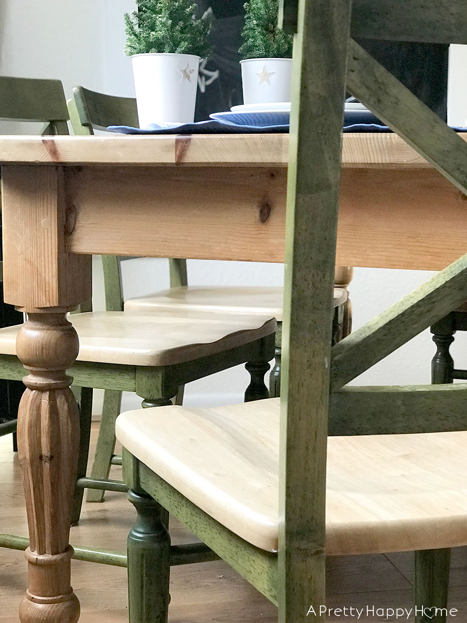 Refinish Wood Chairs Without Power Tools - A Pretty Happy Home
