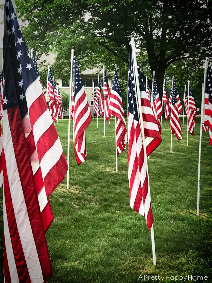 flags on memorial day