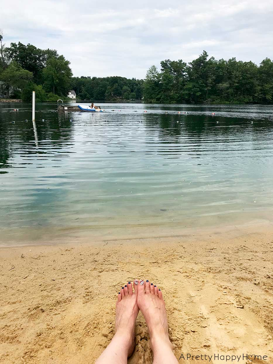 feet on the lake on the happy list