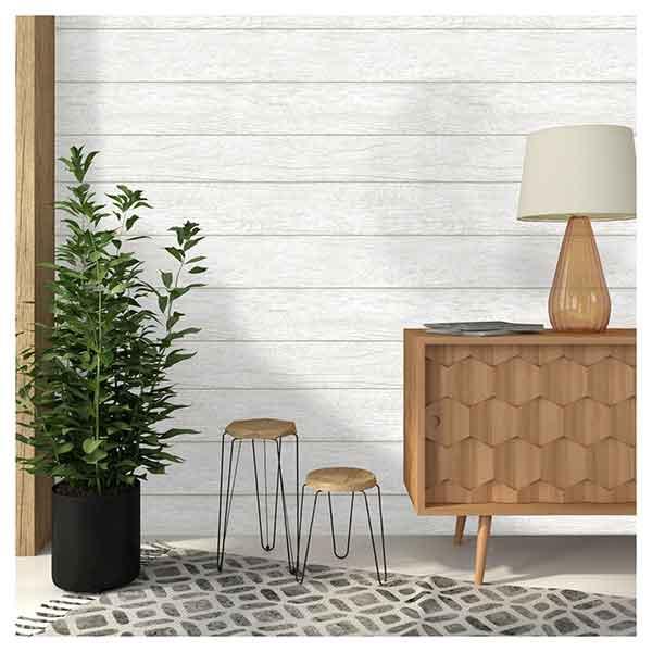 Shiplap Wallpaper - A Pretty Happy Home