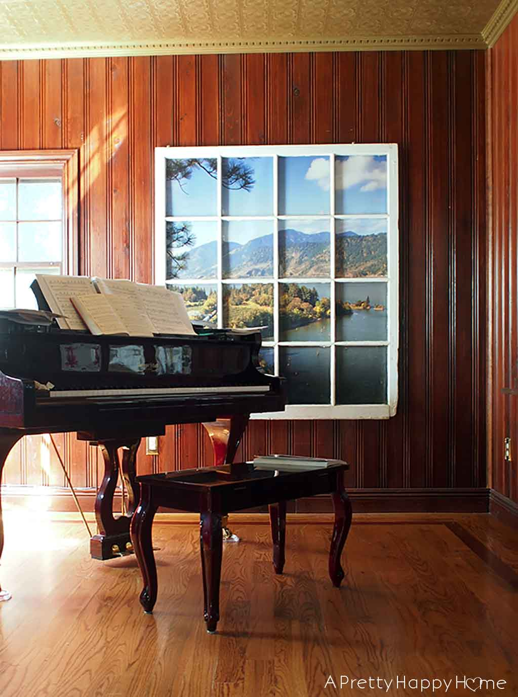 Wood Paneled Game Room: Wood Paneled Piano Room