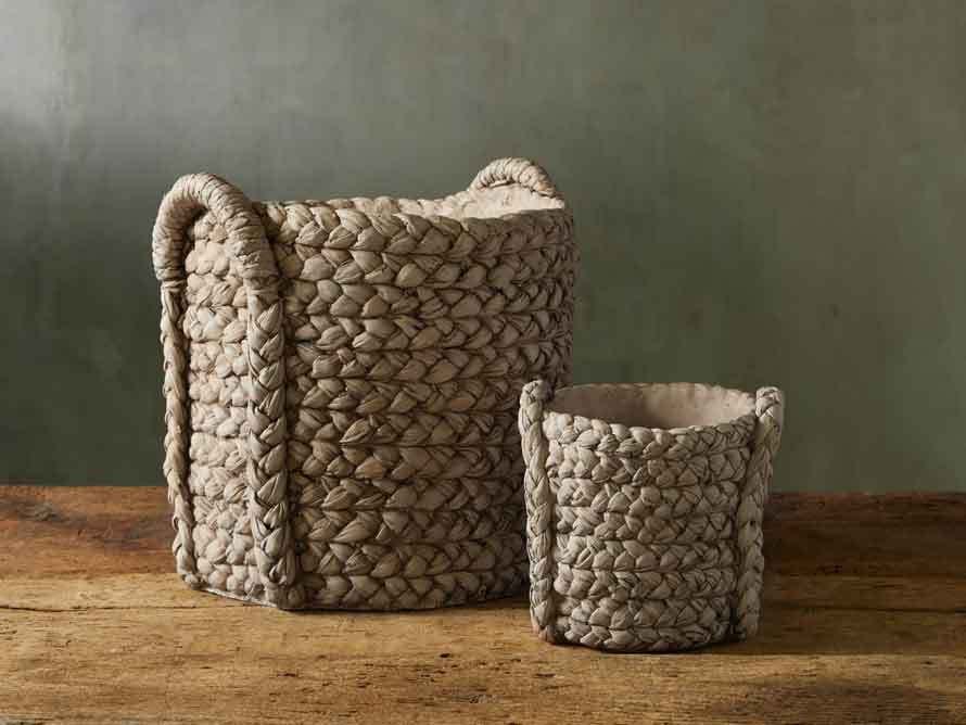 cement woven planter by arhaus