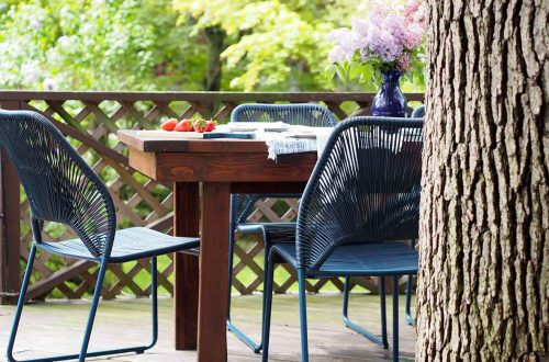 navy blue Fisher 4pk patio outdoor dining chair Target