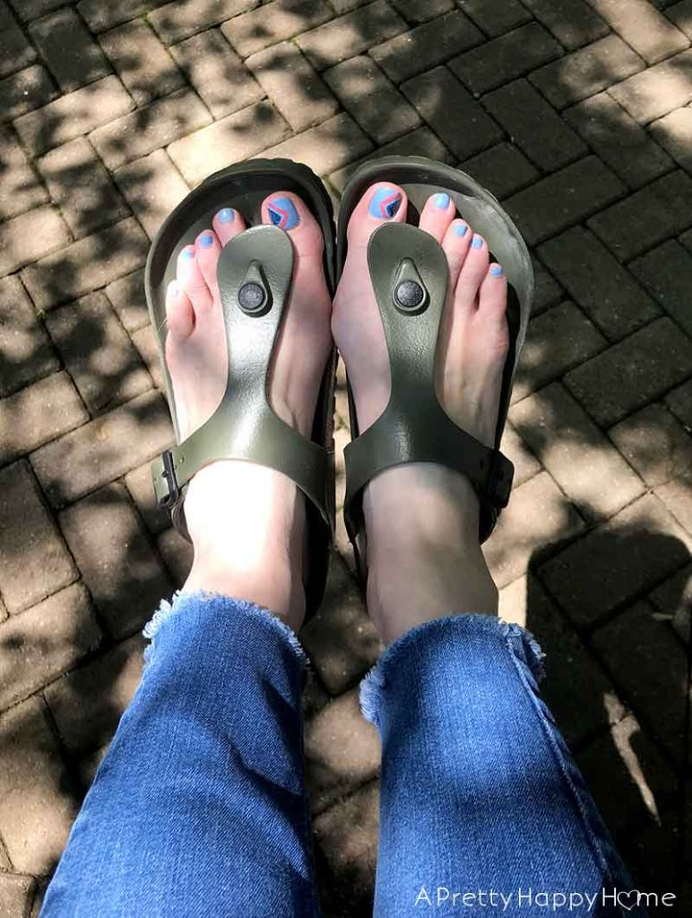 plastic birkenstocks great for pool and lake