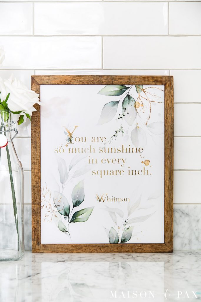 so much sunshine free print maison de pax