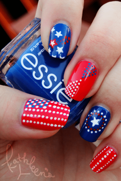 patriotic nails kathleen's corner via Good housekeeping