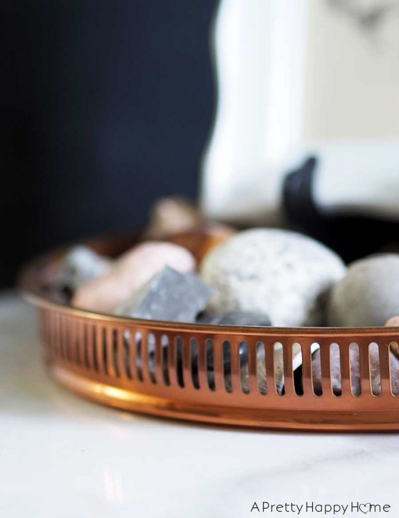 my latest thrifted finds copper tray