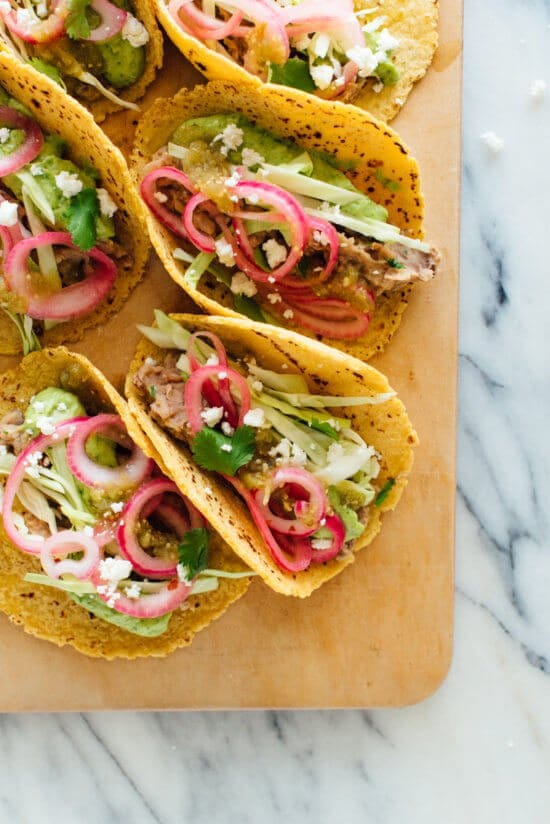 vegetarian tacos by cookie and kate