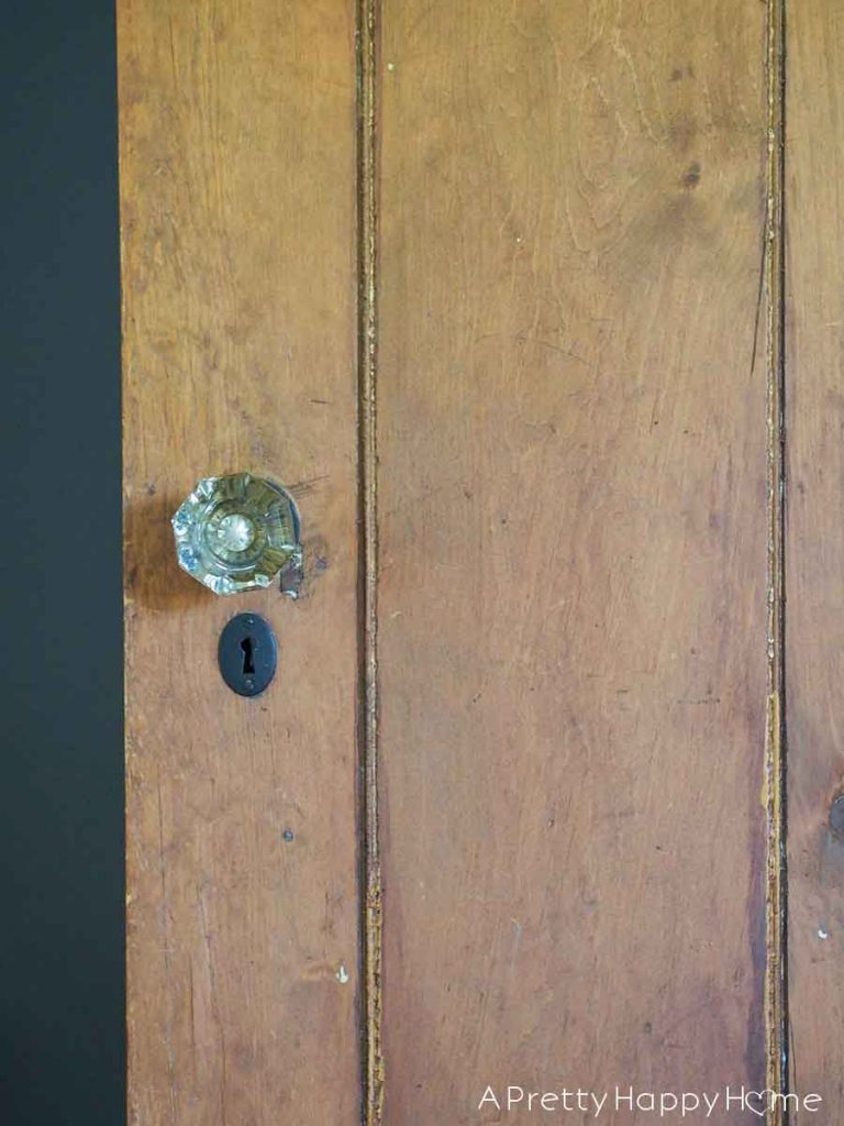 The Doors of Our Colonial Farmhouse glass knobs