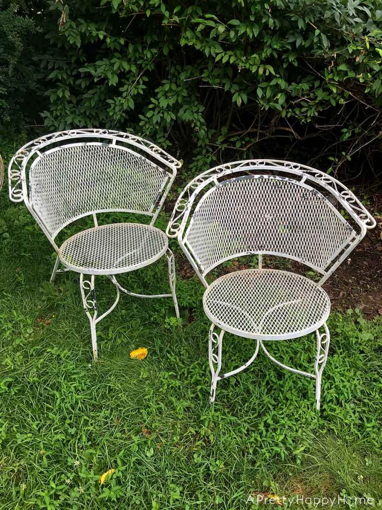 Outdoor Dining Set Makeover