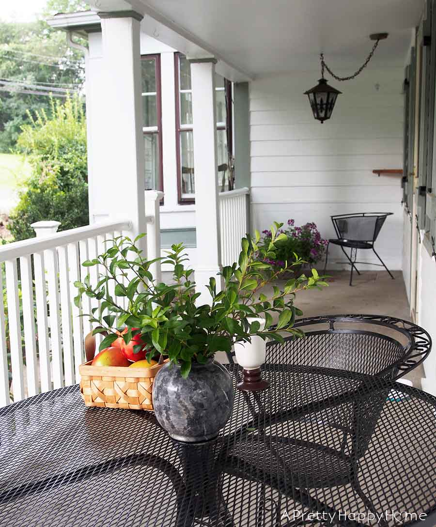 colonial farmhouse front porch on the happy list