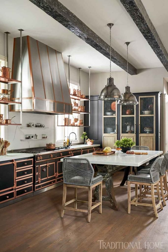 french flair kitchen via traditional home mag on the happy list