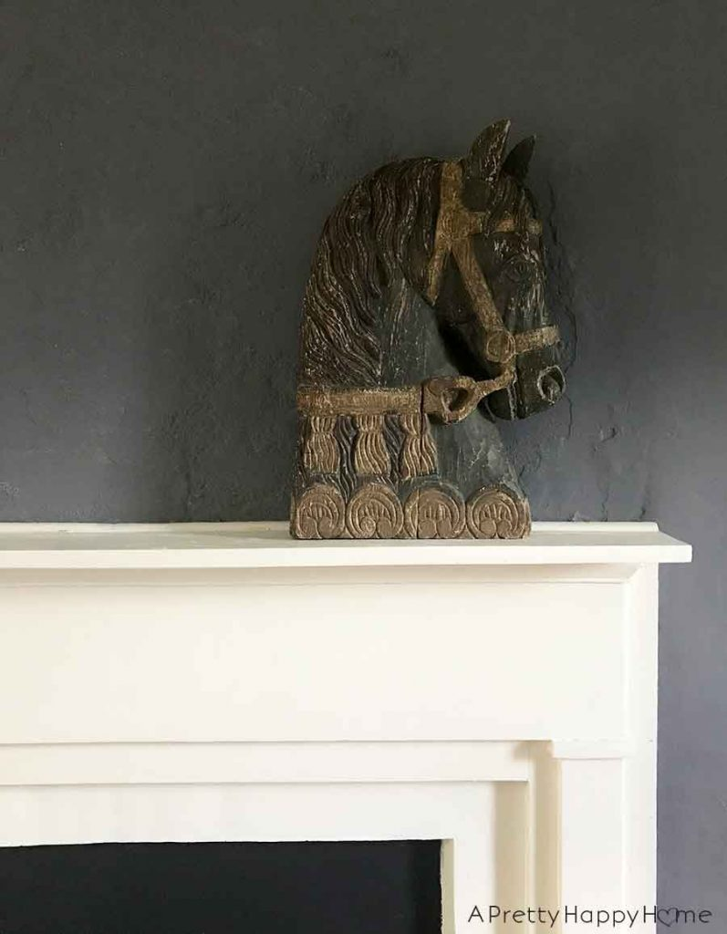 The Best Flea Market Score carved wooden horse head