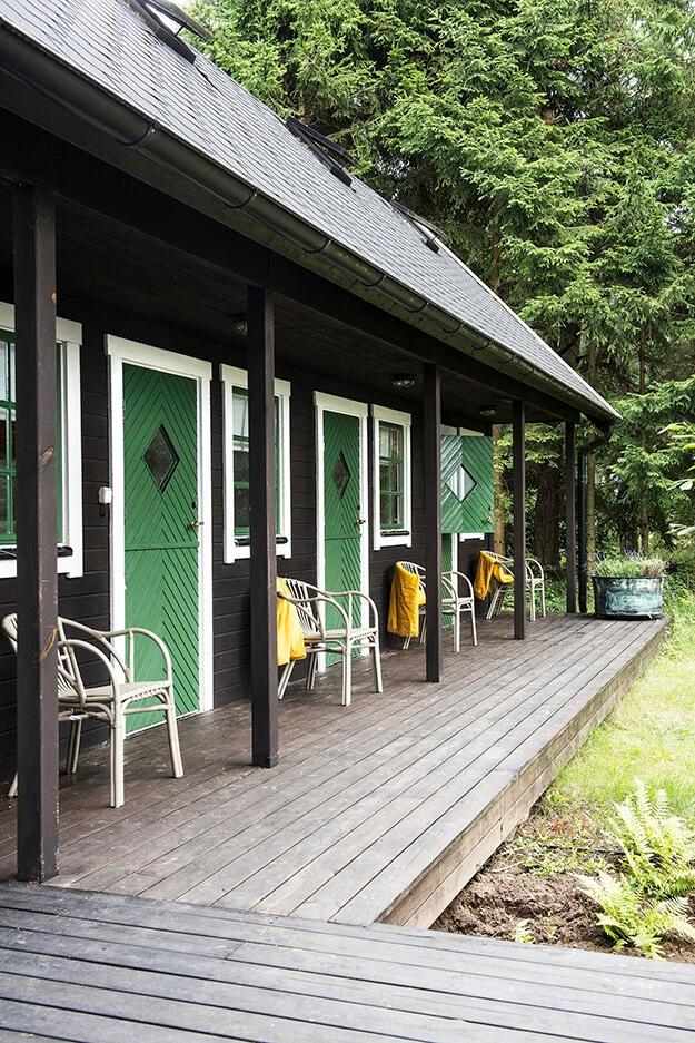 green doors in sweden via desire to inspire on the happy list