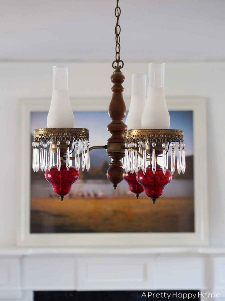 ruby glass chandelier