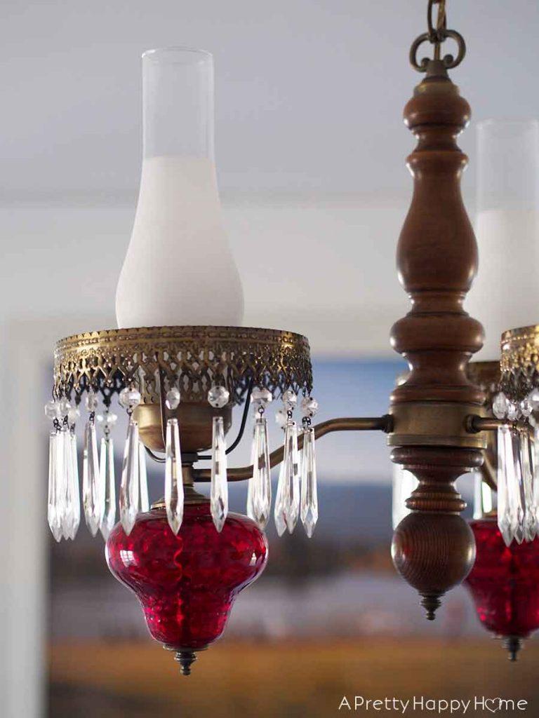 ruby glass chandelier