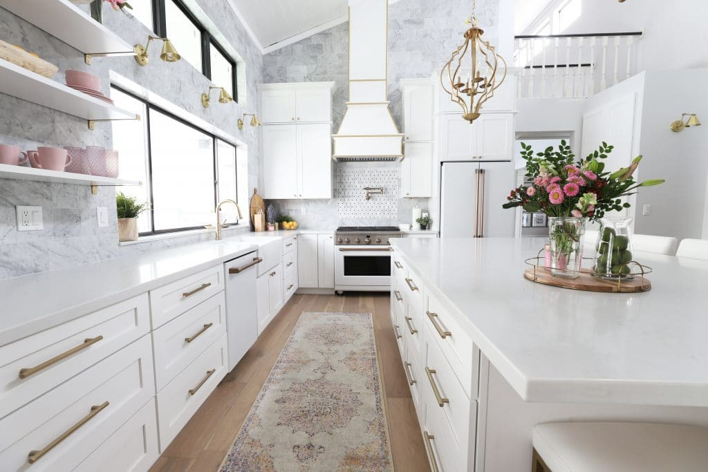 savanna's kitchen remodel via classy clutter window above sink on the happy list
