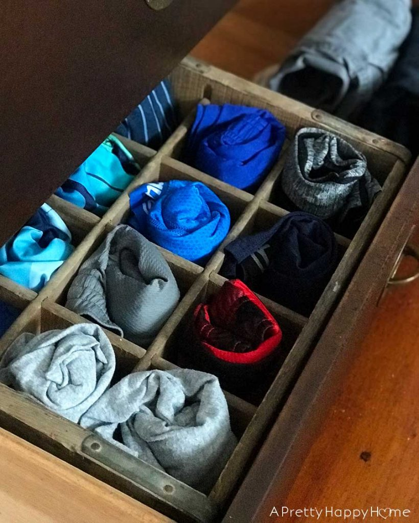 Practical Uses for Soda Crates clothing divider