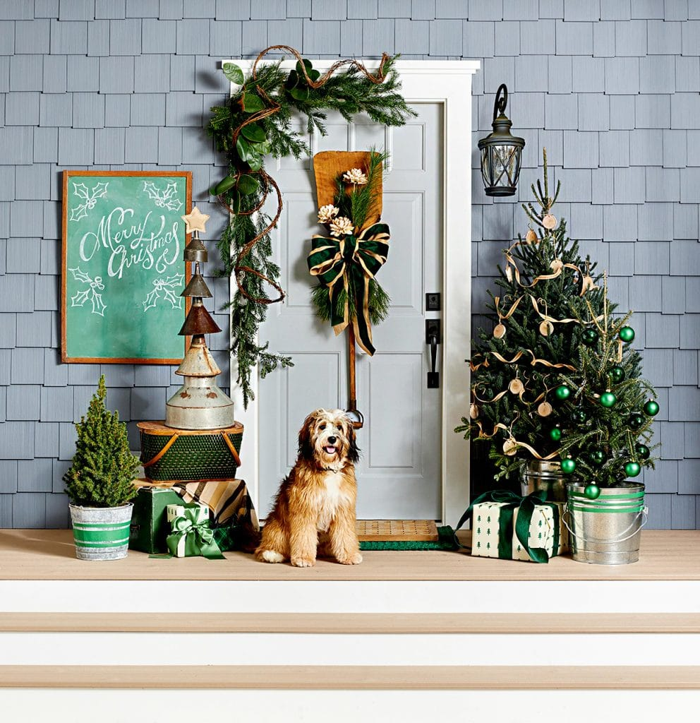 front porch swag by adam albright via country living magazine on the happy list