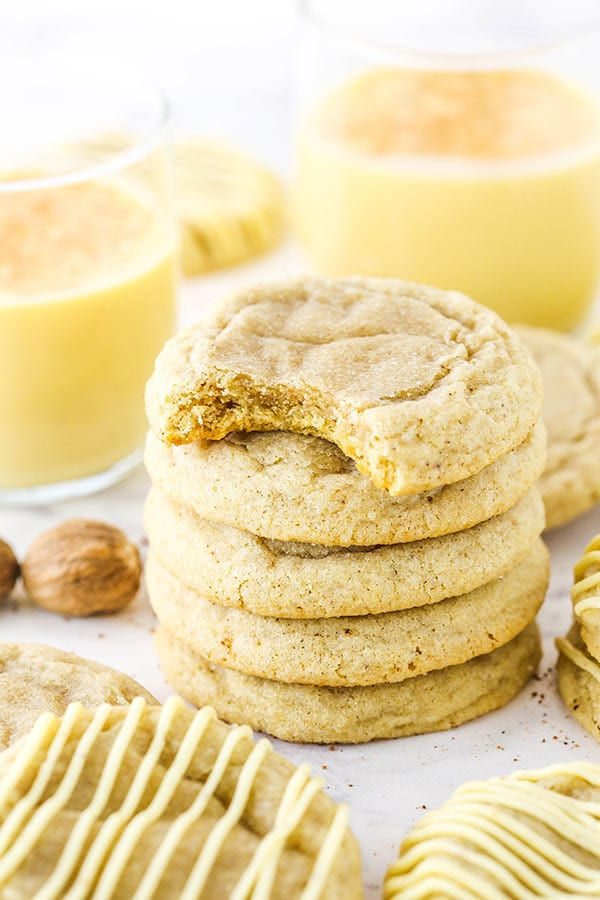 eggnog cookies from life love and sugar on the happy list