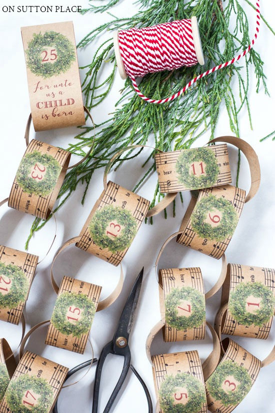 christmas paper chain by on sutton place on the happy list