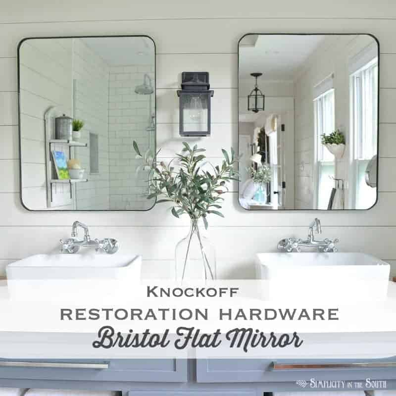 restoration hardware bristol flat mirror knockoff by simplicity in the south on the happy list