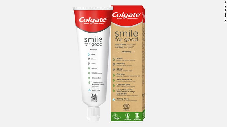 colgate recyclable toothpaste tube on the happy list via cnn