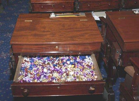 senate candy desk via wikipedia on the happy list
