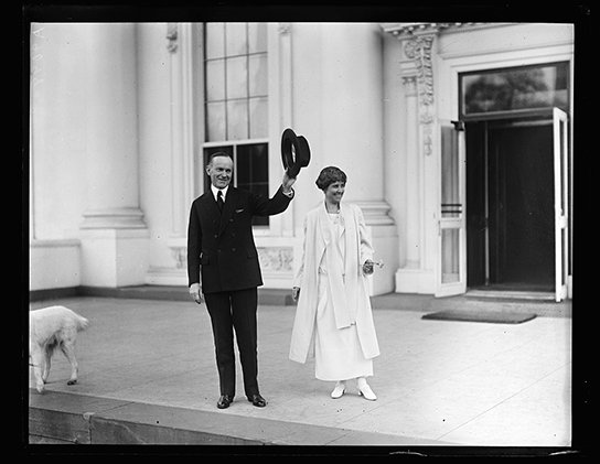 calvin and grace coolidge via library of congress on the happy list