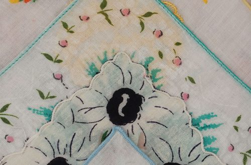 vintage handkerchief art