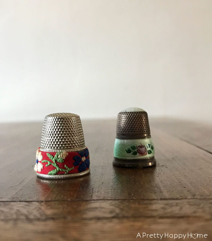 decorating with thimbles