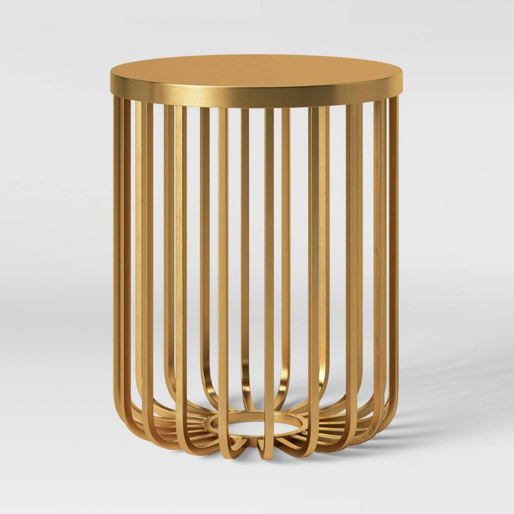 kibara cage accent table brass from target
