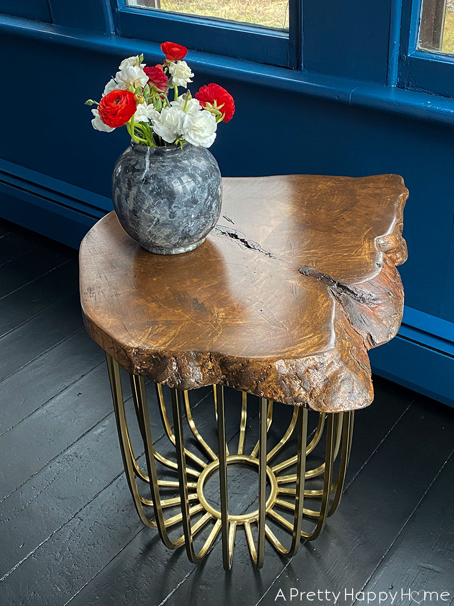 modern live edge brass side table target hack