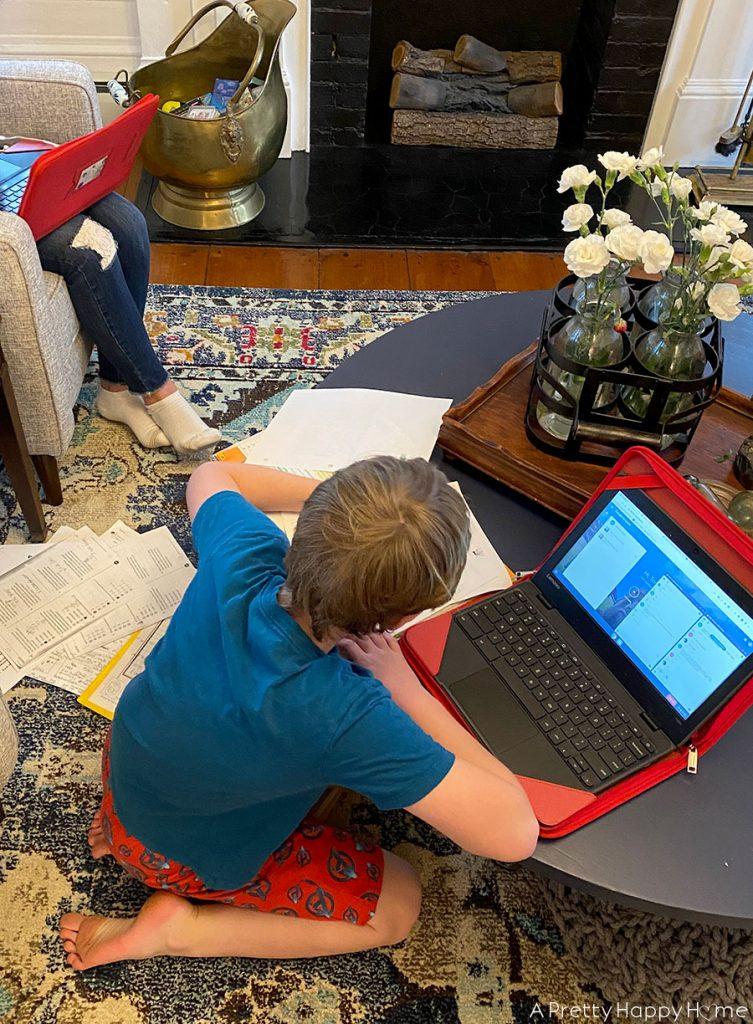 weekday quarantine schedule online learning
